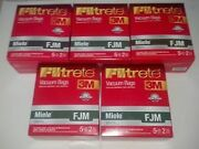 25 Miele Type Fjm Premium Hepa Filtration Canister Vacuum Cleaner Bags + 5 Mo...