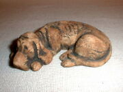 Stan Langtwait pottery dog Sculpture Figurine Shapes Clay Mount St. Helens ash