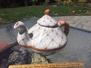 Rare Early MacKenzie Childs Large Pottery Teapot Brighton Pavilion Nice Clean