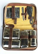 Vintage Large Travel Grooming Set With Safety Razor Shave Kit Triple Cut Germany