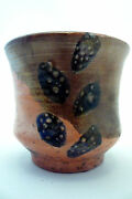 Raku Studio Art Pottery Tea Bowl Signed Fritz Speis (?)