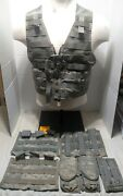 Molle Ii Fighting Load Carrier Vest 3 Triple Mag And 3 Double Pouches Us Army Acu