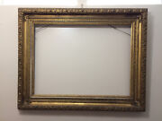 Antique 1800s Very Large Gold Gilt Gesso Wood Frame For Painting Mirror 50x40