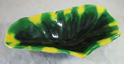 Vintage Mid Century Studio Pottery Free Form Bowl Signed Ethel Bowers Green