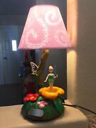 Extremely Rare Walt Disney Peter Pan Tinkerbell Figurine Moving Table Lamp