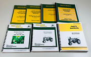 Service Parts Manual Set John Deere 720 730 Diesel Tractor Gas And Electric Crank