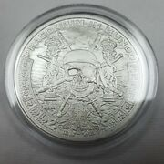 1oz Silver Shield Pieces Of Eight .999 Fine Silver Round Pirate Skull Coin