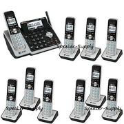 Atandt 2 Line Telephone Answering Machine System 10 Cordless Phone Tl88102 9 88002