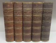 Antique Books, Guizot History Of England 1876, 5 Volumes,19th C. 1800s