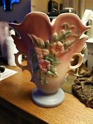 "Vintage Hull Art Pottery Wildflower W-9 8 1/2"" Matte Vase Pink Blue Excell Cond"