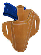 New Barsony Ambidextrous Tan Leather Pancake Holster For Full Size 9mm 40 45