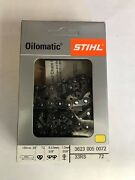 33rs 72 Stihl New Chainsaw Chain Saw 20 In. 3/8 .50 72 Drives Blade  Aggressive