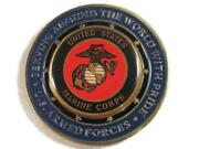Proud Military Family Lucky Commemorative 2 Challenge Coin Usmc Us Marine Corps