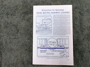 Lionel Rcs Electro-magnetic Couplers Instructions Instructions Photocopy