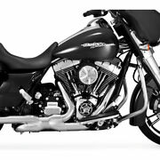 Vance And Hines Power Duals Exhaust Header System 2009-2016 Harley Touring Chrome