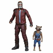 Diamond Marvel Select New Starlord And Rocket Guardians Galaxy Gotg 7 Figure