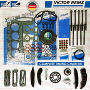 For Bmw 520d Upper Lower Diesel Timing Chain Kit Rocker Cover Head Gaskets Bolts