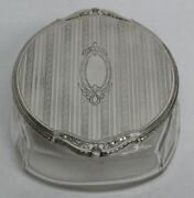 Vintage Blackinton And Co Sterling Silver And Crystal Powder Jar