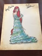 Signed Disney Princess Designer Collection Lithographe Ariel Limited Edition 500