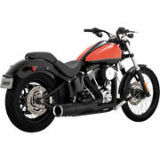 Vance And Hines Black Hi-output 2-into-1 Short Exhaust 1986-2017 Harley Softail