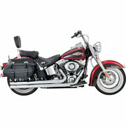 Vance And Hines Chrome Big Shots Long Exhaust For 2012-2017 Harley Softail