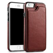 For Iphone 11 Xs Samsung Galaxy S20 Magnetic Wallet Case Card Slot Flip Cover