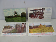 4 Antique Farm Related Postcards- Case Mach, Stacking Alfalfa Pc113