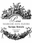 Vintage Image French Paris Flower Advertising Furniture Transfers Decals Mis630
