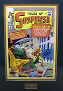 Tales Of Suspense 50 Cover Print Signed By Stan Lee. Coa, Mandarin, Iron Man