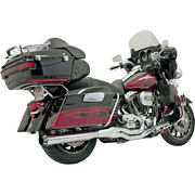Bassani Straight Can B4 2-into-1 Exhaust System 1995-2016 Harley Touring Chrome