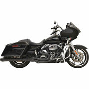 Bassani Black Megaphone B4 2-into-1 Exhaust System For 2017 Harley Touring