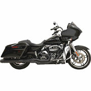 Bassani Black Straight Can B4 2-into-1 Exhaust For System 2017 Harley Touring
