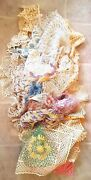 Huge Lot 50 Vintage Antique Lace Crocheted Tatted Runners Tablecloths Doilies 5