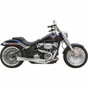 Bassani Road Rage 21 Exhaust For 2018 Harley Softail Breakout Fat Boy Chrome