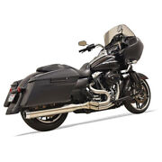 Bassani 4 Straight Can Road Rage 3 Exhaust 2017-2018 Harley Touring Stainless