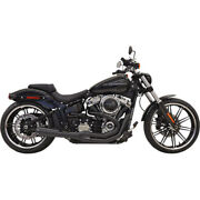 Bassani Road Rage 21 Exhaust For 2018 Harley Softail Breakout Fat Boy Black