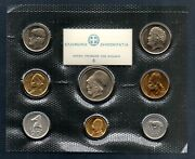 8 Coins 1978 B-unc Km Ps2 Mint Bank Of Greece Official Set Of Greek Drachmas