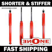 Mk1 Stiff Shorter Front And Rear Shocks For Lowered 87-93 Mustang V6 Gt Gs2834