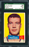 1957-58 Topps 73 Jim Paxson Rookie Card Sgc 92 Nm/mt+ Very Low Population