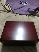 Cigar Humidor With Cuban Crafters Perfect Cutter And Xikar Crossover Lighter