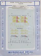 Microscale 60-694 Golden West Service Freight Cars 3 N Scale Nos