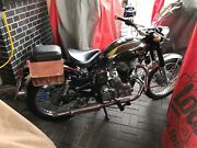 Two Motorcycle Brown Leather Both Side 2 Bags Pouch Saddlebags Saddle Panniers