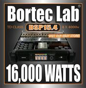 Bortec Lab Dsp15.4 4/ch Td Network Power Amplifier For Line Array And Subwoofers