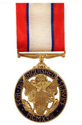 Vanguard Full Size Medal Army Distinguished Service - 24k Gold Plated