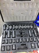 Sbs Sealey Air Impact Wrench Socket Set 34 Piece 1/2 Square Drive 10 - 32mm