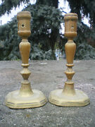 Pair Of Candle Holders Bronze Time Xvii 17 - High Time