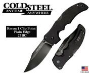 Cold Steel 4 Folding Knife Recon 1 Clip Point Cpm S35vn Steel Tri-ad Lock 27bc