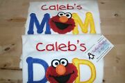 Elmo Mom And Dad Personalized Birthday Shirts Any Name Color Scheme Both Shirts