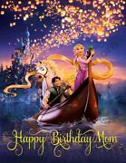 Disneyand039s Tangled Personalized Edible Print Cake Topper Frosting Sheets 5 Sizes