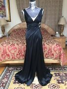 Iconic Gorgeous 2die4 Collectible Versace Open Back Black Silk Dress